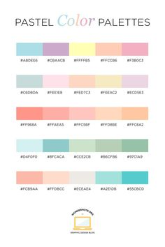 Pastel Color Palette for Graphic Web Print Design Wondernote Pastel Colour Palette, Colour Pallette, Colour Schemes, Pastel Colors, Color Combos, Beach Color Palettes, Paint Color Palettes, Colours, Color Mixing Chart