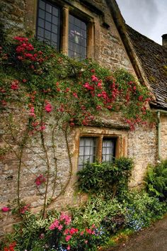 Rambling Rose on an Old Cottage Wall . Style Cottage, Cute Cottage, Old Cottage, Garden Cottage, Cottage Living, Cottage Homes, Storybook Homes, Storybook Cottage, Cottages Anglais