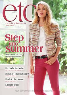 New cover time!! June 2014 La Redoute #stepintosummer front cover #etcMagazine #Sussex #Hampshire