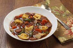 Hillshire Farm Smoked Sausage Pesto Tortellini Soup