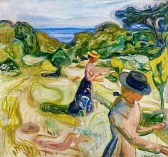 Edvard Munch (Norwegian, 1863-1944), In the Garden, 1902. Oil on canvas, 75 x 82 cm.