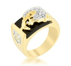 14K  GOLD EP 4.2CT DIAMOND SIMULATED SAPPHIRE MENS DRESS RING sz 9-11 u choose