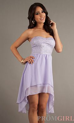 Strapless High Low Dress at PromGirl.com...it comes kn mint green