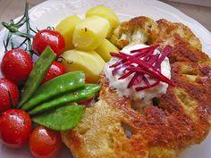 Blumenkohl - Schnitzel, ein raffiniertes Rezept aus der Kategorie Braten. Bewertungen: 100. Durchschnitt: Ø 4,3.