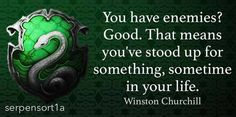 Slytherin, villains, character personality inspiration, quotes