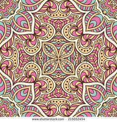 Seamless vector pattern. Vintage decorative elements. Hand drawn background. Islam, Arabic, Indian, ottoman motifs. - stock vector