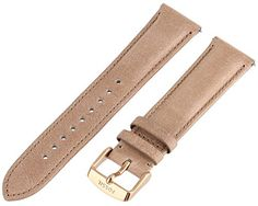 Fossil Womens S201026 20mm Leather Watch Strap  Tan *** You can get additional details at the image link.