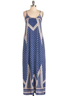 Respite to Remember Dress. Your coastal vacation may last only a weekend, but you'll soak up plenty of sun in this navy-blue maxi dress! #blue #modcloth