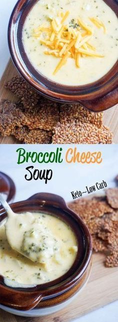 Low Carb Recipes Keto Broccoli Cheese soup made simple! - This Keto Broccoli Cheese Soup packs a lot of flavor and a lot of fat! Enjoy it alongside a keto roll on a cold winter night. Ketogenic Recipes, Low Carb Recipes, Diet Recipes, Healthy Recipes, Ketogenic Diet, Soup Recipes, Dessert Recipes, Breakfast Recipes, Keto Foods