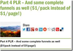 Part 4 PLR – And some complete funnels as well ($1/pack instead of $1/page!)