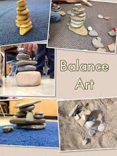 Children can go outdoors and collect rocks. They can then practice balancing techniques with the rocks and figure out ways to make their rock structures more solid. Rocks can also be sorted by size, shape, texture and/or colour. Children can work in small teams to collect and build their structures or work independently to sort and group their materials.