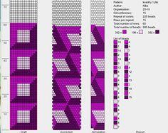 Узоры для вязанных жгутиков-шнуриков 14   biser.info - всё о бисере и бисерном творчестве