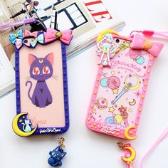 Cartoon Bow Frame Sailor Moon Silicone Soft Bumper For Iphone 7 8 Plus 5 6S Plus