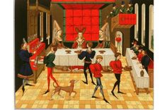 Fit for a queen: 3 medieval recipes enjoyed at English and Scottish royal courts -15th-century banquet. © The Art Archive / Alamy