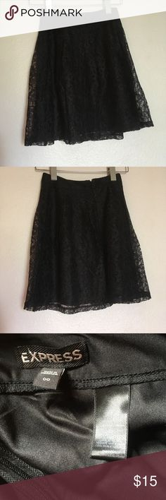 Express skirt Black lace skirt Express Skirts