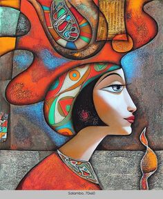 Wlad Safronow - From his Secession series of Paintings: title for this is 'Salambo' - size: 70 x 60 ✿≻⊰❤⊱≺✿