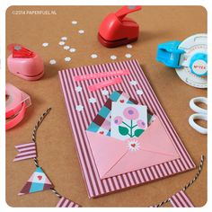 Pink birthday card made by Paper fuel #diy #snailmail #craft #paperfuel
