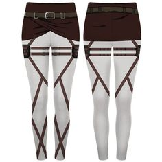 Attack on Titan Scout Regiment Leggings (535 ARS) ❤ liked on Polyvore featuring pants, leggings, bottoms, cosplay and legging pants