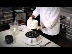 Ron Ben-Israel Cutting & Serving a Wedding Cake - YouTube
