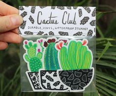 Cactus Sticker Pack by CactusClub on Etsy