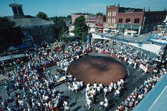 Okmulgee Ok pecan festival.   worlds largest pecan pie