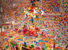 Yayoi Kusama: In Infinity, 2015 (Obliteration Room, Installation shot from Louisiana Museum of Modern Art). © Louisiana Museum of Modern Art, Humlebaek, DK. Photo: Kim Hansen