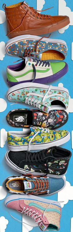 I want every single pair!... Toy Story x VANS Shoes