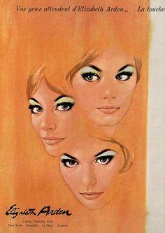 60s ad : Elizabeth Arden    source : L'officiel magazine, n° 531-532, 1966