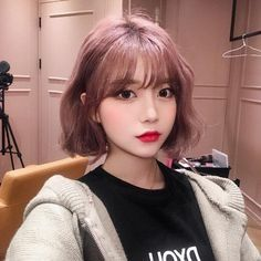 Cute Short Haircuts with Bangs for Women in 2019 Korean Short Haircut, Short Haircuts With Bangs, Short Choppy Hair, Girl Short Hair, Hairstyles With Bangs, Short Hair Cuts, Braided Hairstyles, Girl Hairstyles, Korean Hairstyle Bangs