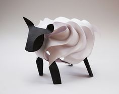 Paper Sculpture sheep created by Sarah Hayter, one of our members of staff, out of A1 Canford Paper.