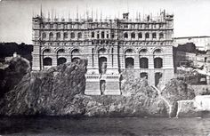 The musée Océanographique of Monaco under construction... http://monaco-addict.com