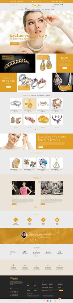 Olongker - eCommerce Jewelry PSD Template Preview - Devitems