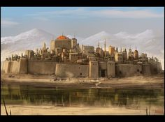 Mark Molnar - Sketchblog of Concept Art and Illustration Works: Pathfinder - City of Solku
