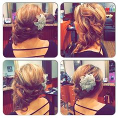 Gorgeous updo by Shelby at Razmataz Salon!