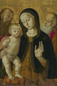 Bernardino Fungai - Madonna and Child with Two Hermit Saints. 1480