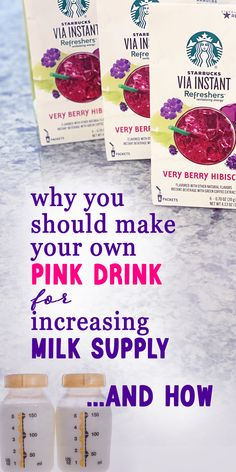 Why you should make your own pink drinks at home for increasing milk supply whilel breastfeeding!