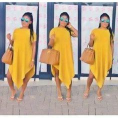 Dress Orange n yellow only --- sizes 4200 Sexy Outfits, Dressy Casual Outfits, Casual Dresses, Cute Outfits, Fashion Outfits, Short African Dresses, Latest African Fashion Dresses, African Print Fashion, Black Girl Fashion