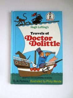 Hugh Lofting's Travels of Doctor Dolittle (1960) By Al Perkins - Vintage Childrens Book - Beginner Books