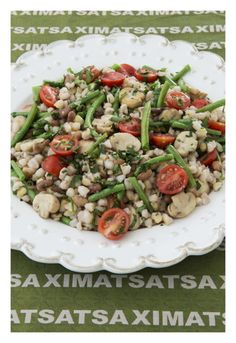 Samp and Beans salad - A traditional South African dish South African Dishes, South African Recipes, Ethnic Recipes, Yummy Snacks, Yummy Food, Beans Salad, Family Meals, Family Recipes, Dutch Recipes