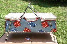Vintage portable infant / baby crib / bassinet / car bed, 1950's.