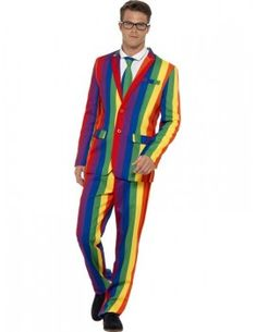Mens Stand Out Suit Rainbow Stag Do Party Funny Fancy Dress Costume Outfit New Halloween Fancy Dress, Adult Halloween, Costume Halloween, Gay Pride, Rockabilly, Funny Fancy Dress, Rainbow Fashion, Herren Outfit, Suit Shop