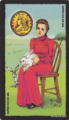 Queen of Coins - The Prairie Tarot by Robin Ator