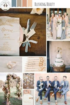 Blushing Beauty – Pretty Wedding Inspiration in Shades of Blush and Gold