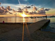 "Playa del Carmen Mexico Sunrise - Mexican Caribbean at ""Reef Coco Beach"" all inclusive resort."
