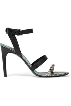 MCQ ALEXANDER MCQUEEN Leather And Elaphe Sandals. #mcqalexandermcqueen #shoes #sandals