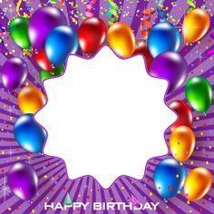 Happy Birthday Frame, Happy Birthday Cake Images, Happy Birthday Kids, Birthday Cake With Photo, Happy Birthday Wallpaper, Birthday Frames, Birthday Parties, Youtube Banner Backgrounds, Birthday Background