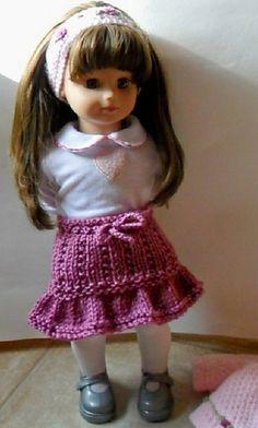 "Free ruffle skirt knitting pattern for 18"" dolls"