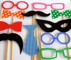 Photo Booth Props Party Pack Set of 11 Wedding Photo Props Party Photo Props Party Decorations Party Supplies Masks Glasses Mustache Wedding Photo Props, Photo Booth Props, Photo Booths, Photo Shoot, Wedding Activities, Party Props, Party Ideas, Childrens Party, Party Time