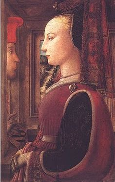 "Filippo Lippi's ""Woman with a Man at a Window"" (1438-44) Portraits of  Women in Italian Renaissance Painting #TuscanyAgriturismoGiratola"