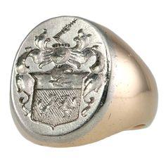 platinum signet ring ...